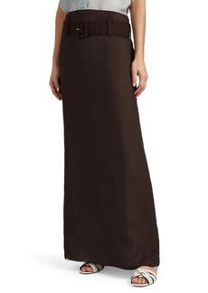 Prada Women's Crinkled Silk Chiffon Belted Skirt