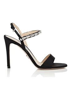 Prada Women's Crystal-Embellished Ankle-Strap Sandals