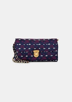 Prada Women's Donna Floral Print Shoulder Bag - Purple