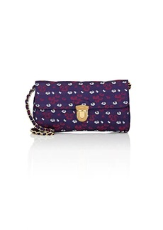 Prada Women's Floral Shoulder Bag - Purple