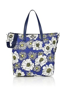 Prada Women's Floral Tote Bag - Blue