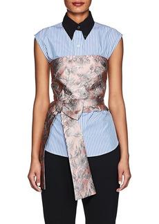 Prada Women's Floral Brocade Crop Bustier Top