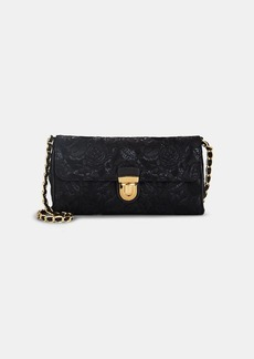 Prada Women's Floral Brocade Shoulder Bag - Nero / black