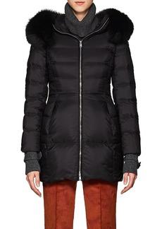 Prada Women's Fox-Fur-Trimmed Puffer Coat