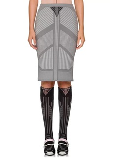 Prada Women's Geometric-Pattern Knit Pencil Skirt