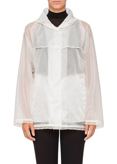 Prada Women's Lace-Trimmed Raincoat