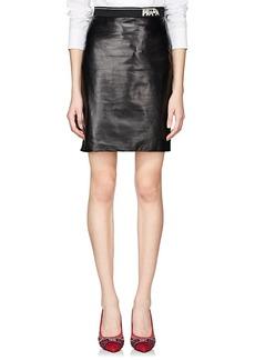 Prada Women's Lambskin Pencil Skirt