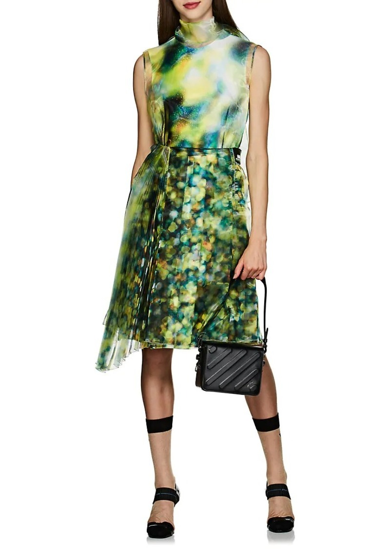 b01232c322 Prada Prada Women s Layered Liquid-Crystal-Print Midi-Dress