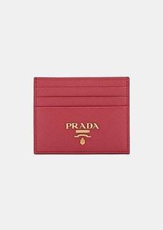 Prada Women's Leather Card Case - Pink