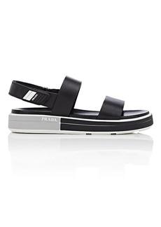 Prada Women's Leather Double-Band Slingback Sandals