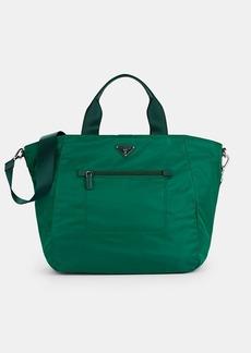 Prada Women's Leather-Trimmed Shopper Tote Bag-Oleandro,