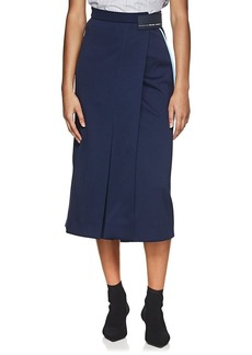 Prada Women's Logo Tech-Jersey Skirt