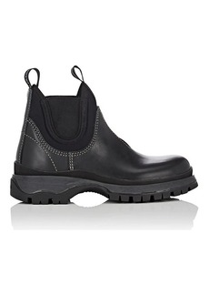 Prada Women's Lug-Sole Leather & Neoprene Chelsea Boots