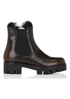 Prada Women's Lug-Sole Leather Chelsea Boots