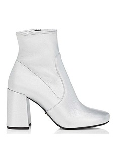 Prada Women's Metallic Leather Ankle Boots