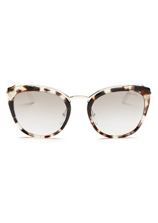 Prada Women's Mirrored Cat Eye Sunglasses, 54mm
