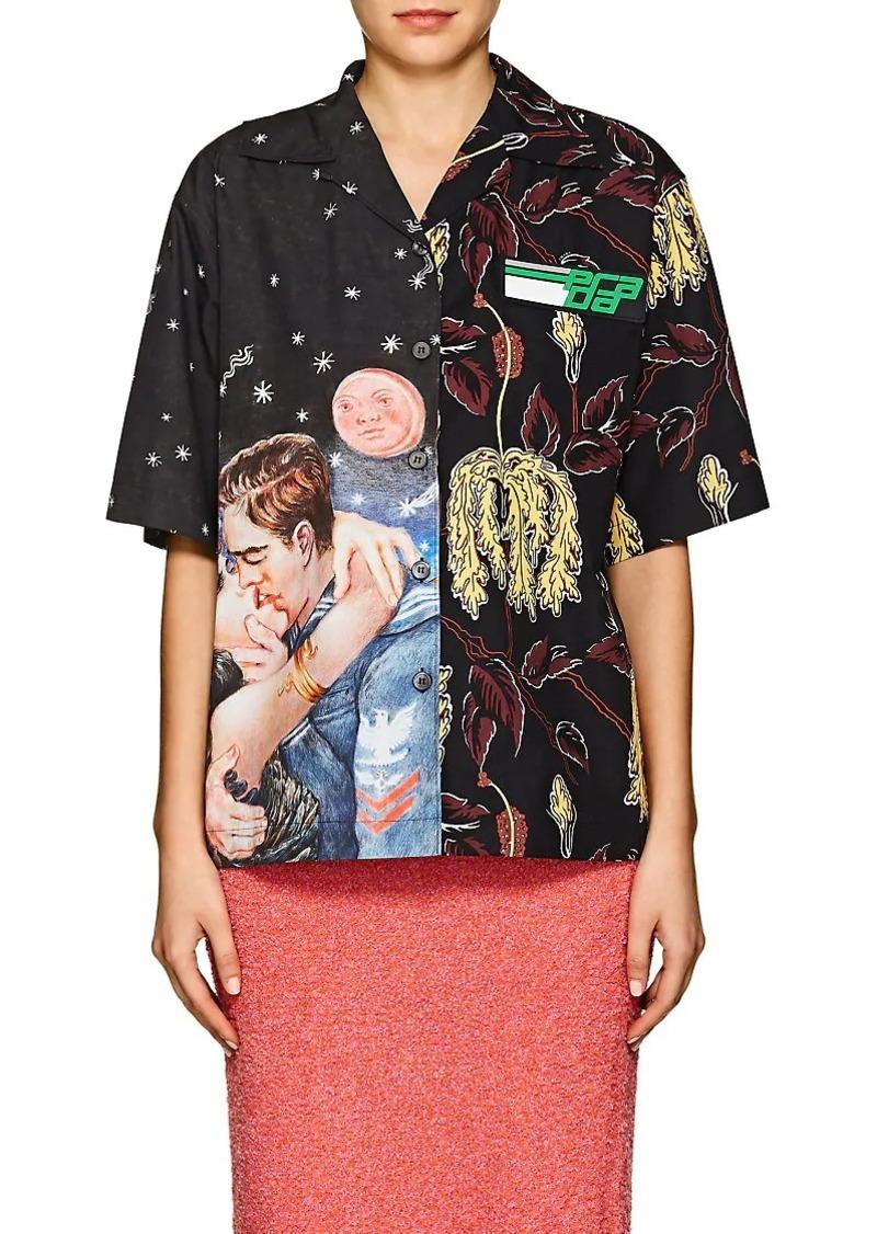 547ec83c Women's Mixed-Graphic Cotton Poplin Shirt