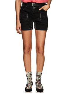 Prada Women's Overprinted Denim Shorts