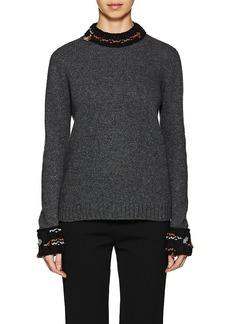Prada Women's Pom-Pom-Detailed Wool-Cashmere Sweater