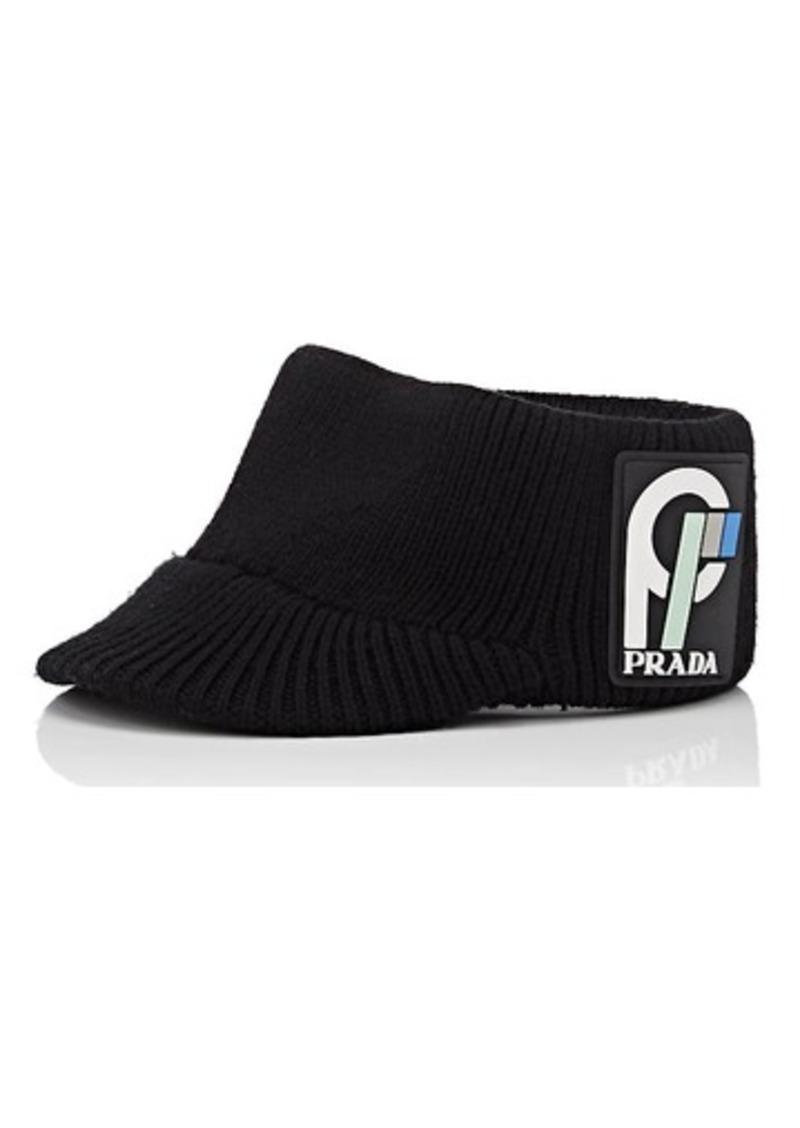 Prada Prada Women s Rib-Knit Wool Visor  074cbd96cbba