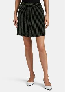 Prada Women's Sequined & Beaded Silk Miniskirt