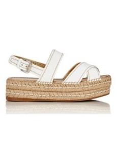 Prada Women's Slingback Platform Espadrille Sandals