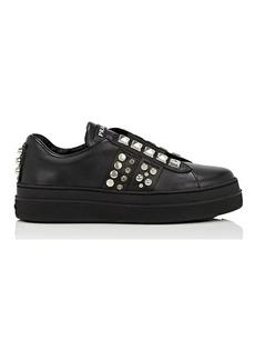 Prada Women's Studded Leather Sneakers
