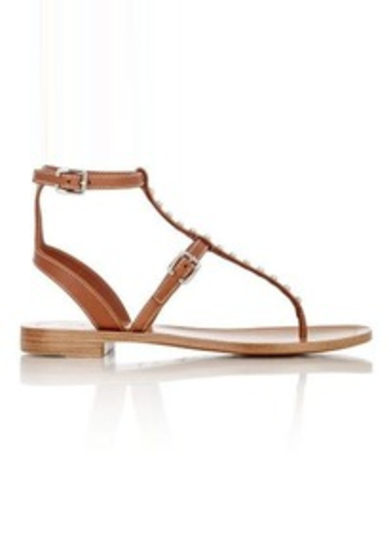 e7cfbba147ef Prada Prada Women s Studded T-Strap Gladiator Sandals