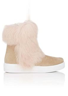 Prada Women's Suede & Fur Ankle Boots