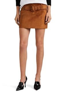 Prada Women's Suede Belted Miniskirt