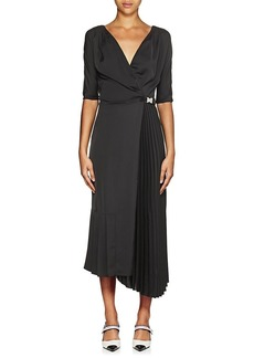 Prada Women's Tech-Crepe Belted Wrap-Front Dress