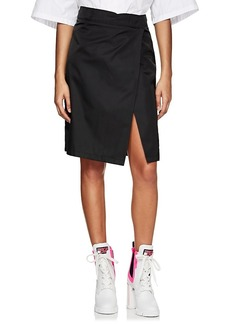 Prada Women's Tech-Gabardine Wrap-Front Skirt