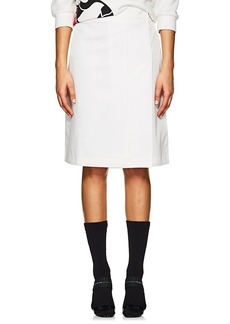 Prada Women's Tech-Twill A-Line Skirt