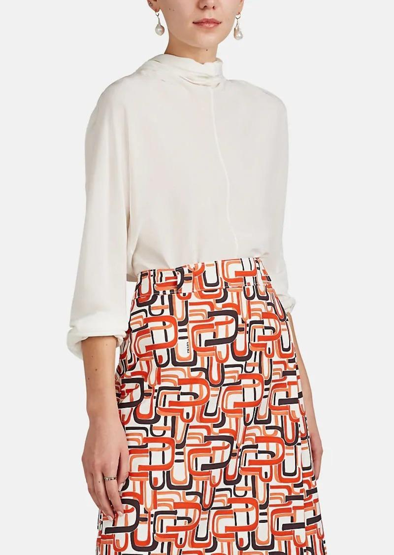 e6ddf136c3a19 Prada Prada Women s Tieneck Silk Crepe Blouse