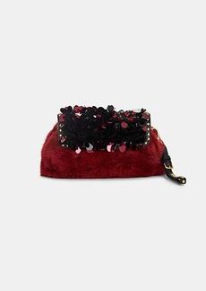 Prada Women's Visone Sera Fur Clutch-Rosso,