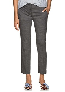 Prada Women's Wool Flat-Front Trousers