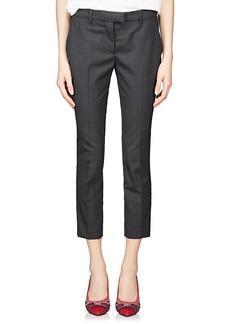 Prada Women's Worsted Wool Crop Trousers