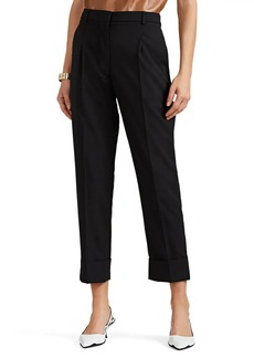 Prada Women's Worsted Wool Pleated Trousers