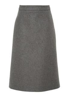 Prada Wool-Felt Midi Skirt