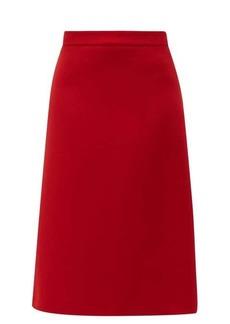 Prada Wool-gabardine midi skirt