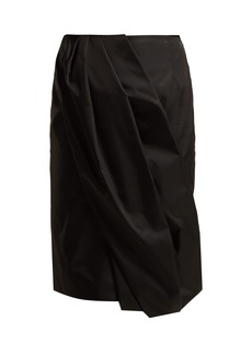 Prada Wrap-effect nylon skirt