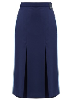 Prada Wrap-front technical jersey skirt
