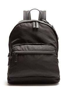 a3920017d4 Prada Prada Zip-pocket leather-trimmed backpack