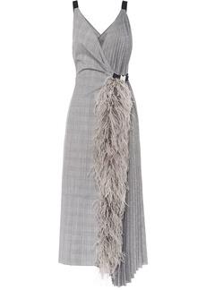 Prada Prince of Wales asymmetrical dress