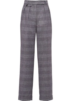 Prada Prince of Wales grisaille trousers
