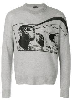 Prada printed cashmere sweater