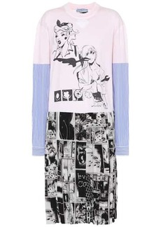 Prada Printed cotton and silk dress