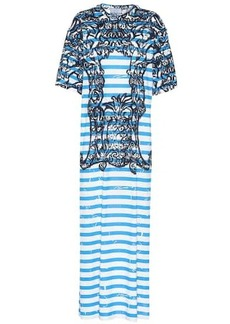 Prada Printed cotton maxi dress
