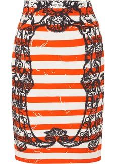 Prada Printed Cotton-poplin Skirt