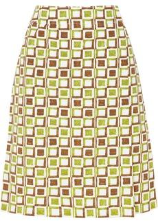 Prada Printed Cotton Skirt